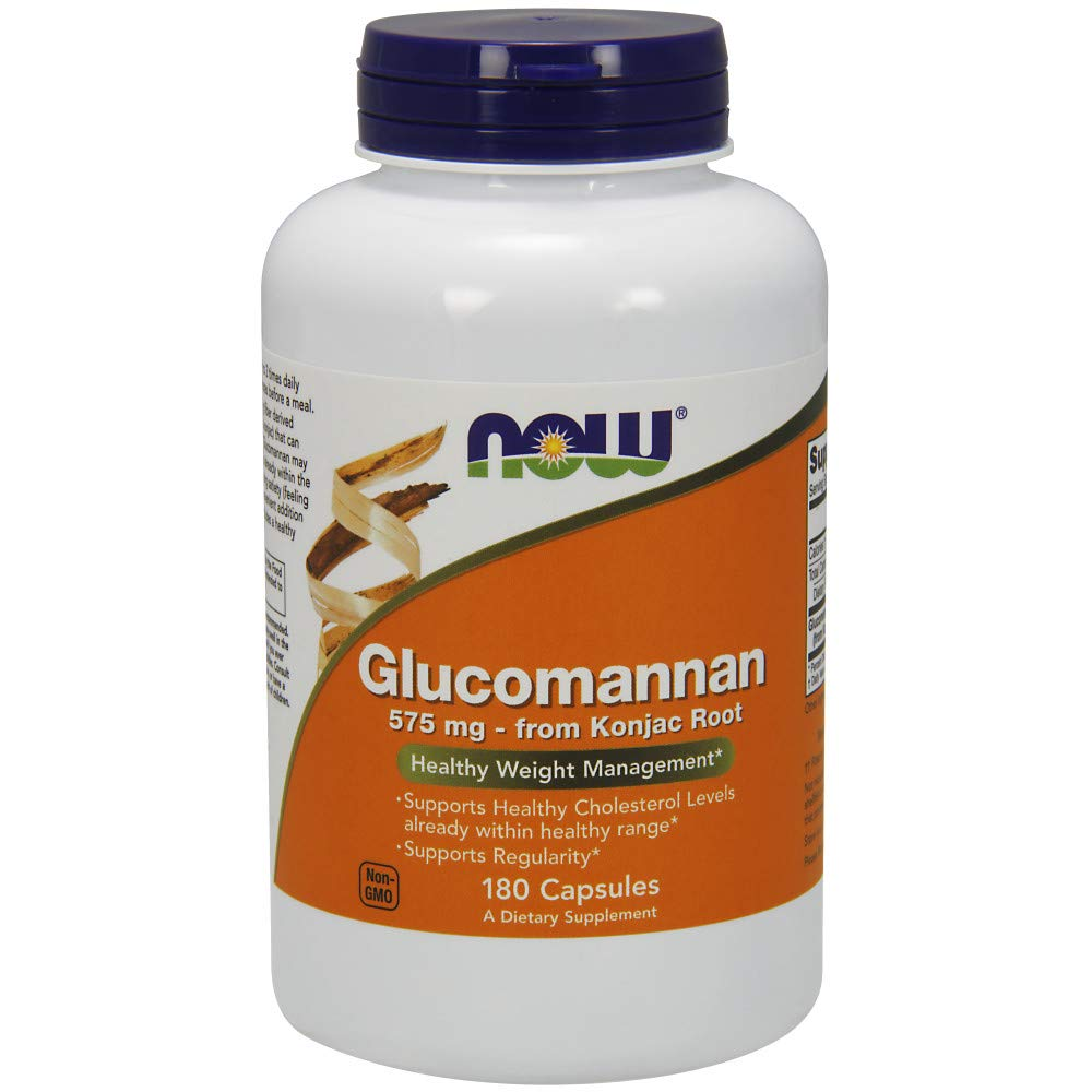 NOW Glucomannan 575 mg,180 Capsules