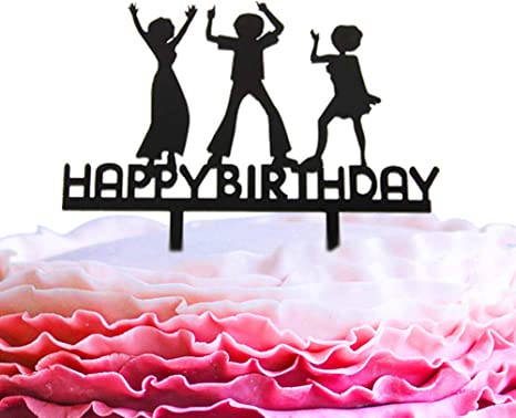 Fine Amazon Com A Series Of Happy Birthday Dance Acrylic Cake Topper Personalised Birthday Cards Veneteletsinfo
