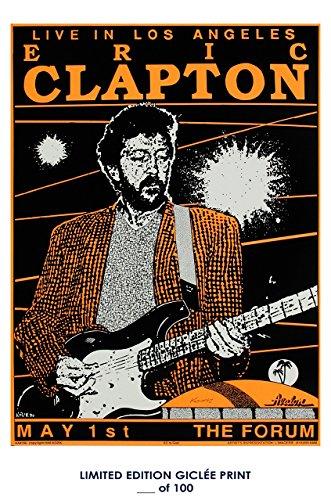 Reprint Concert Poster - RARE POSTER the forum ERIC CLAPTON concert 1990 REPRINT #'d/100!! 12x18