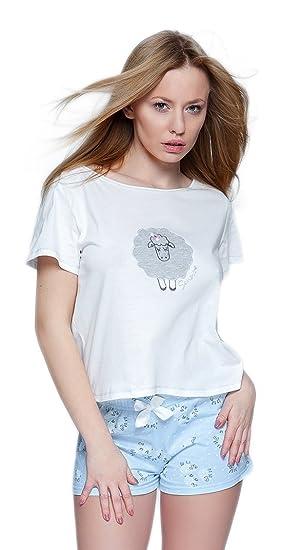 T Sensis Pyjama Composé Shorts Shirt Et Par Classe Coton Noble En vbmIfyY76g