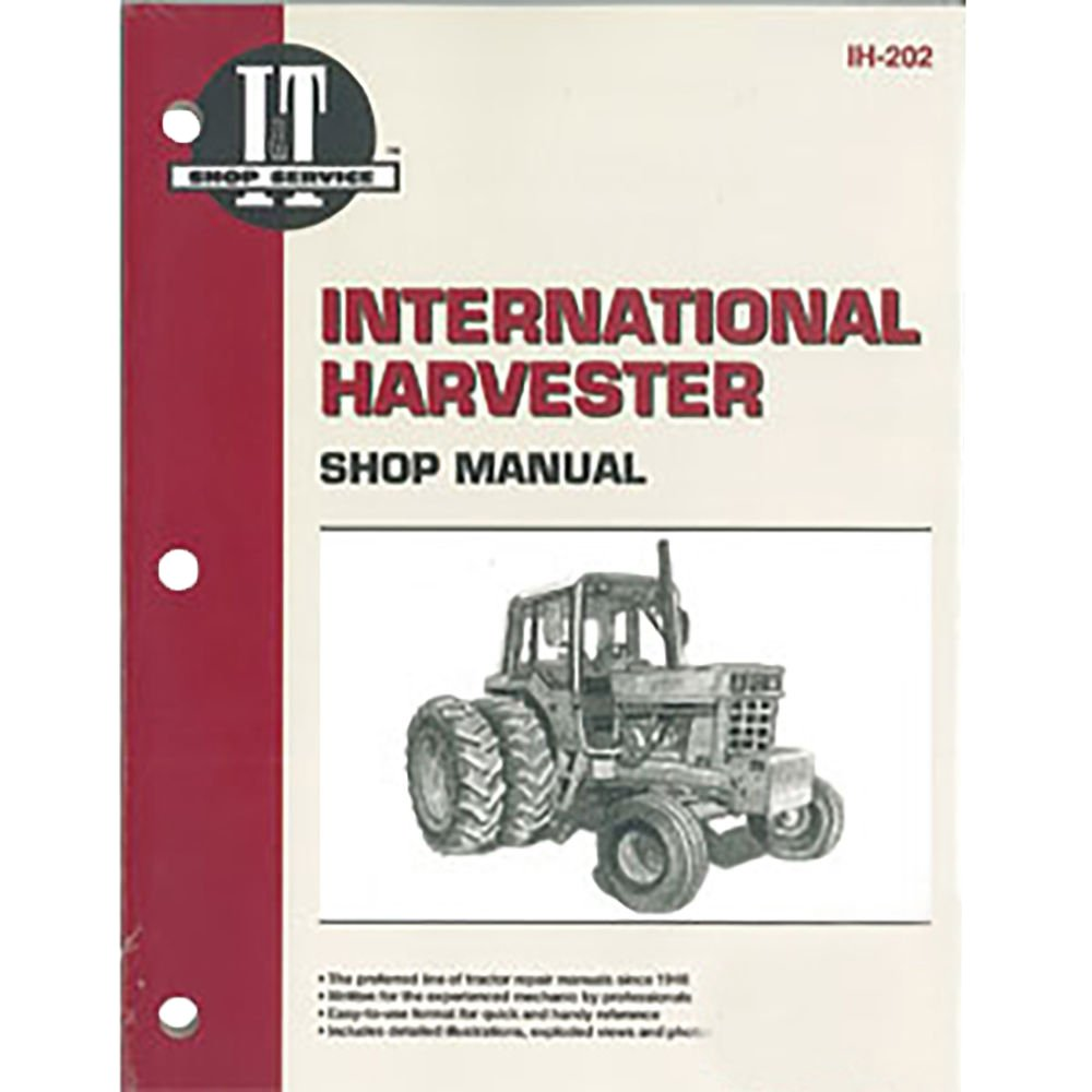 IH202 New Shop Manual Made for Case-IH Tractor Models 1466 1468 1486 1566  1568 +: Amazon.com: Industrial & Scientific