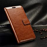 NKARTA Lenovo K6 Note Flip Cover, Vintage PU Leather Wallet Book Cover Case for Lenovo K6 Note (Brown)