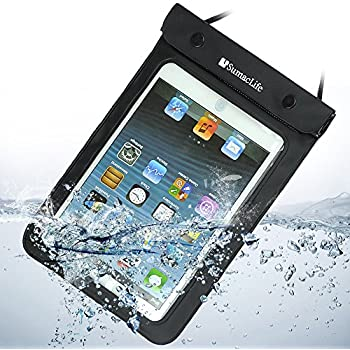 "Black Tablet Waterproof Case Sleeve Dry Pouch Bag for Apple Ipad Mini / Samsung Galaxy Note 8.0 / Samsung Galaxy Tab 3 P3200 T310 T210 / Samsung Galaxy Tab 2 (7-inch, Wi-fi) / Kindle Fire Hd 7"" / Google Nexus 7 Tablet / Asus Nexus 7 / Coby Kyros 7-inch Android 4.0 4 Gb / 7'' Google Android 4.0 Os 8gb / Tagital (Tm) 7"" Android 4.0 4gb"