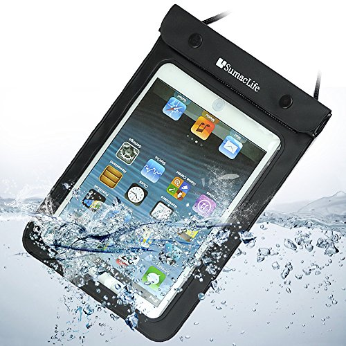 Black Tablet Waterproof Case Sleeve Dry Pouch Bag for Apple Ipad Mini / Samsung Galaxy Note 8.0 / Samsung Galaxy Tab 3 P3200 T310 T210 / Samsung Galaxy Tab 2 (7-inch, Wi-fi) / Kindle Fire Hd 7