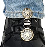 Ryder Clips Laced Boots Two Clip Version , Style: Western Star WSL-FC