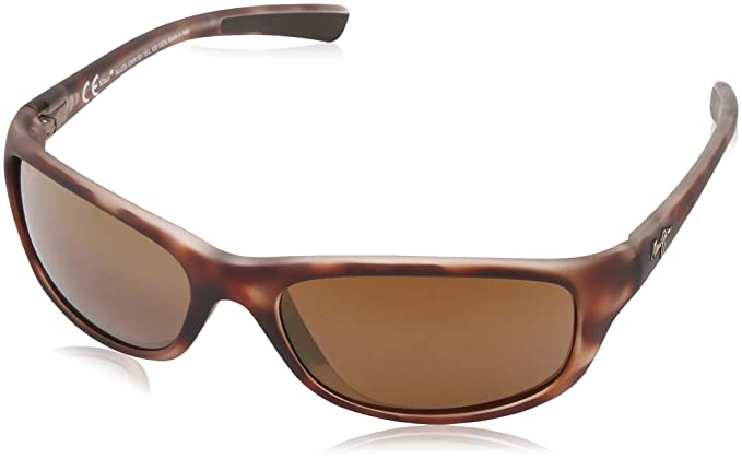 78a1cb489cbc Maui Jim Kipahulu Sunglasses - Polarized Matte Tortoise Rubber/HCL Bronze,  One Size -