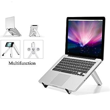 ECOOLBUY Soporte de Ordenador portátil Ajustable Soporte Elevador para Escritorio de pie, Libros de iMac