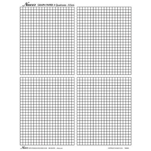 (Nasco TB25362T Graph Paper, 0.5cm Squares, 11 x 8-1/2