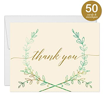 Amazon Com Lovely Rustic Wreath Thank You Cards With Envelopes