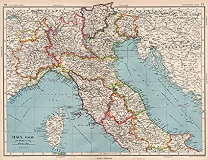 Map Of North Italy.Amazon Com Italy North Shows Independent Free Territory Of Trieste