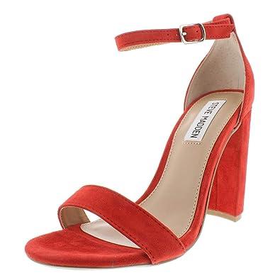 ffb026c43c7 Amazon.com | Steve Madden Womens Carrson Suede Ankle Strap Dress ...