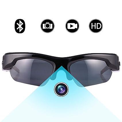 Gafas de Sol Ocultas de la cámara espía, Bysameyee 1080P Gafas polarizadas Mini videograbador CAM