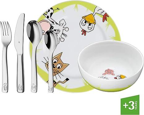 WMF Farm - Vajilla para niños 6 piezas, incluye plato, cuenco y ...