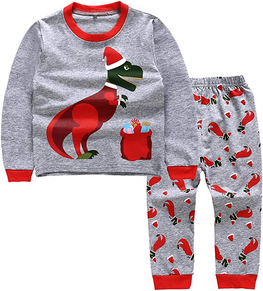 YOUNGER TREE Kids Baby Little Boys Girls Pajamas Set Dinosaurs Print 100/% Cotton Pjs Outfits
