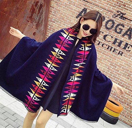 chiaro ZHANGYONG Navy inverno tutti double femminile 65cm caldo Moda match ispessimento 190cm scialle inverno sciarpa Tibet grigio Il dual ZHqrZwU