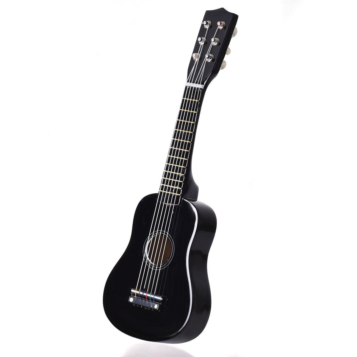 Goplus 21'' Beginners Kids Acoustic Guitar 6 String with Pick Children Kids Musical Gift (Black)