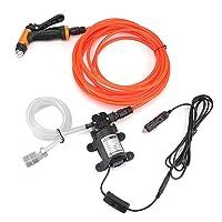 TiooDre Lavadora de presión portátil Car Wash System Kit de Limpieza de 130PSI bomba de agua para el automóvil, marina, animal doméstico, Ventana, Viajes, Jardinería y camping (80W)