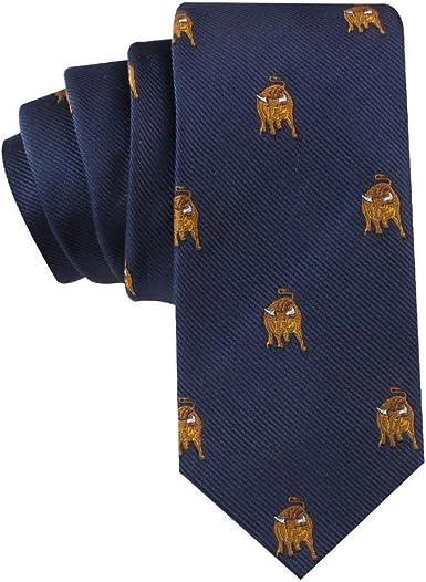 One Size Thomas Pink Mens Giraffe Print Italian Silk Tie
