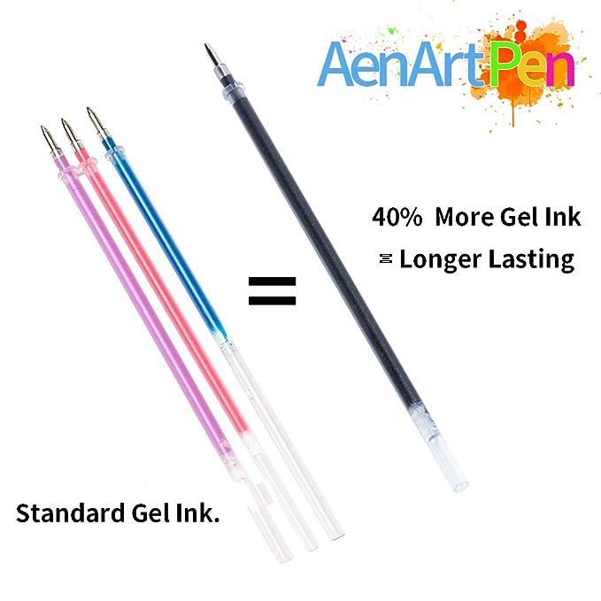 Amazon.com: Juego de bolígrafos de gel con purpurina Aen Art ...