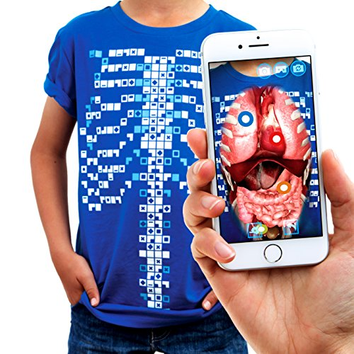 Curiscope Virtuali-Tee Educational Augmented Reality T-Shirt Children: L (9-11) Blue