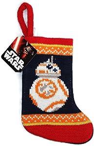 """Star Wars R2D2 Christmas Stocking Mini 8"""" Knit"""