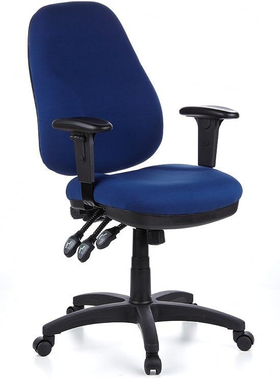hjh OFFICE 702020 Profi Bürostuhl ZENIT PRO Stoff Blau