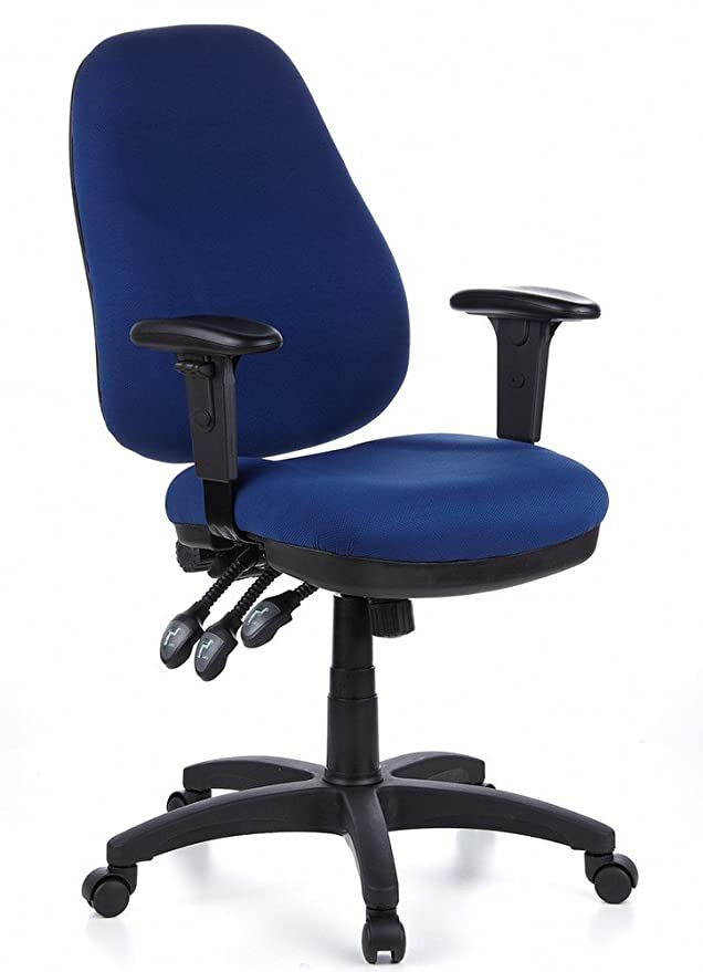 Siège Velours Office Zenit De Pro Tissu Micro Hjh Bleu Bureau Pivotant I6bfvY7gy