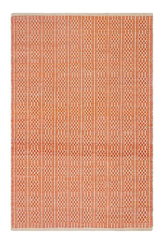 Fab Habitat Belfast - Apricot (5' x 8') - Flatweave Recycled Cotton Area Rug