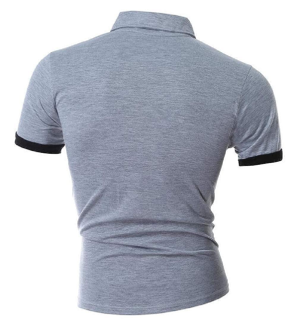 Mens Fashion Casual Slim Fit Short Sleeve Polo T-Shirts