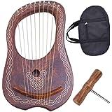 Traditional Irish Lyre Harp 10 Metal String Free String Set Various Designs (Celtic Piping)