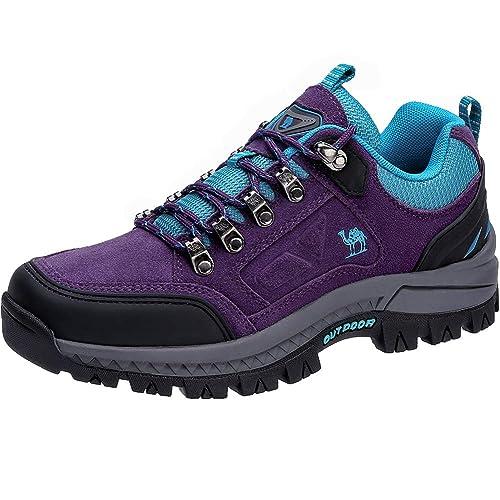 CAMEL CROWN Zapatos de Senderismo para Mujer Zapatillas de Escalada Calzado de Ante para Alpinismo, Zapatos de Excursionismo para Actividades al Aire Libre, ...