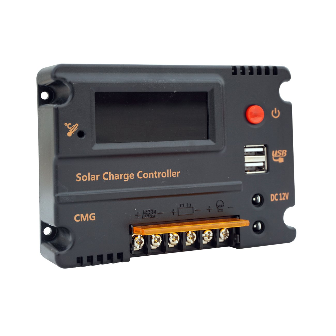 ECO-WORTHY 15A PWM Charge Controller Solar Panel Battery Regulator 12V/24V Automatic (15A) SC15-1