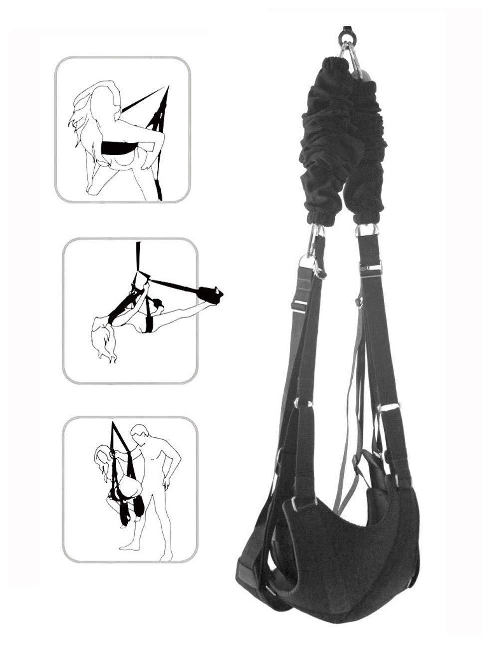 Uudireo Pleasure Toy Swing Door Kit, Door Hanging Swing for Comfortable Support with Strong Nylon, Adjustable Durability and Comfort for Couple Play Women by Uudireo