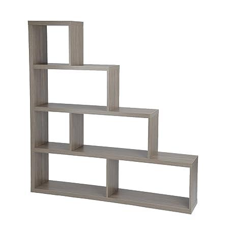 HomyCasa Organizer Bookcase Ebony Ash Nine Shelves Cube Bookcasese Bookshelf Tranitional