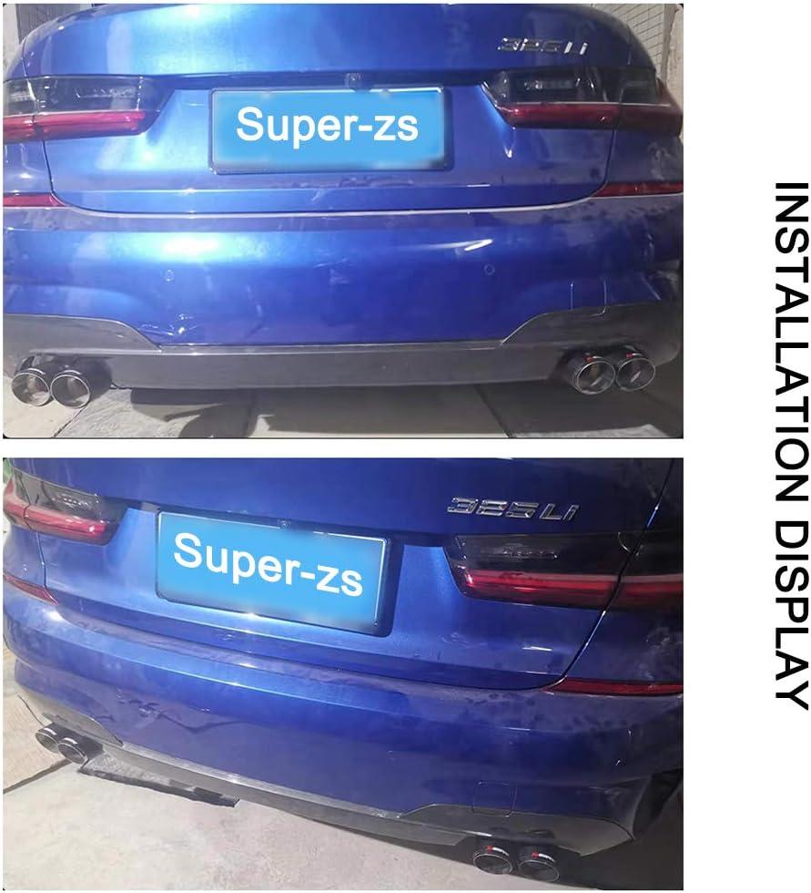Super Zs Carbon Fiber Auto Auspuff Endrohr Schwanz Hals Ist Geeignet Für 2020 Bmw 3er G20 G28 H Typ Double Export Auto Modifiziert Dekorativen Schalldämpfer Küche Haushalt