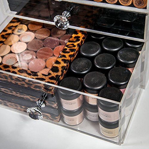Acrylic Makeup Organizer Cube | 4 Drawers Storage Box For Vanity Tables | By N2 Makeup Co by N2 Makeup Co (Image #3)