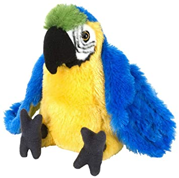 E-Chariot Soft Toys Macaw Parrot Plush Stuffed Animal Cuddlekins by Wild Republic (12292) 8 Inches