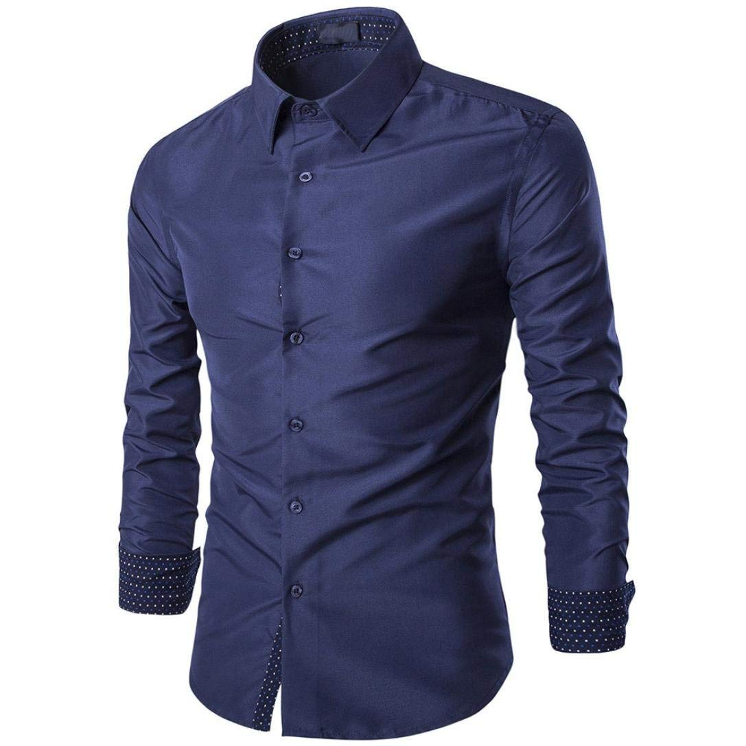 bluee XL Mens Casual Long Sleeve Shirt Business Slim Fit Shirt Blouse Top Purple blueee Black Workplace Red White Wild Tight for Men