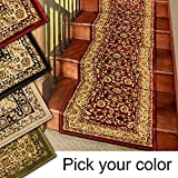carpet for stairs 25' Stair Runner Rugs - Marash Luxury Collection Stair Carpet Runners (Red)