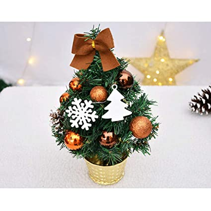 ylcoyoartificial tabletop mini christmas tree decorations festival miniature tree coffee