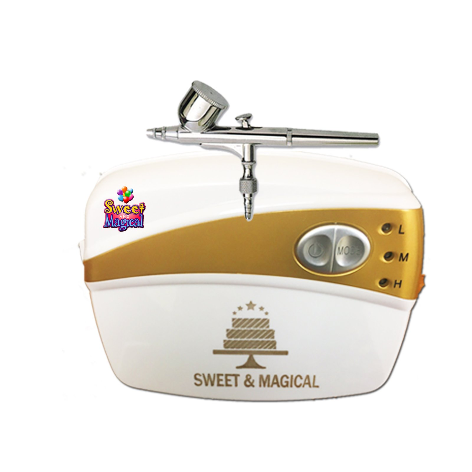 Sweet & Magical Decorating Tools Airbrushing Kit,white by SWEET AND MAGICAL