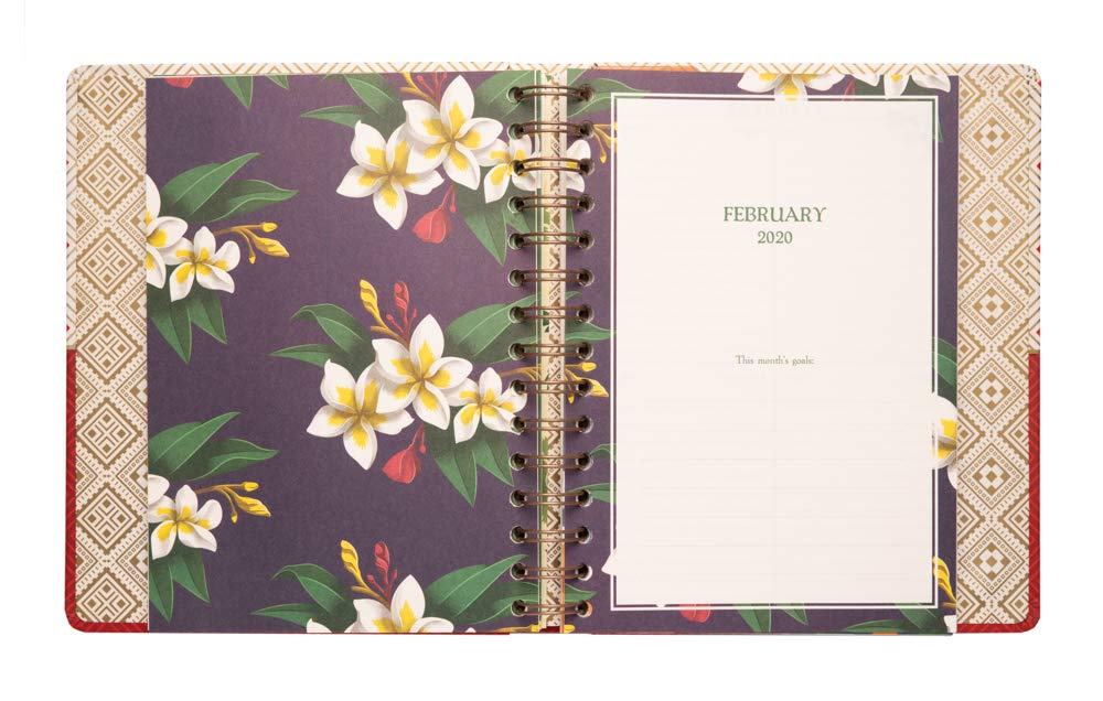 Frida Kahlo Weekly Planner, Yearly Planner and Daily Planner, 17-Month Form Aug-19 to Dec-20, Organizer, Calendar and Agenda, 6.3