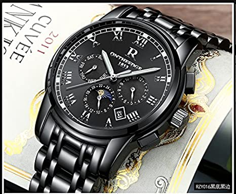 Automatic Wrist stainless Movement Steel Watches Watch Mens Swiss Waterproof MpSUzV