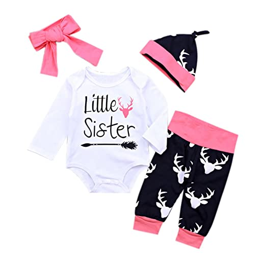 Gprince Baby Boy Girl Clothes Newborn Onesies Pajama Christmas Clothes  Pants Hat Wine Pink 70 48bff145d00