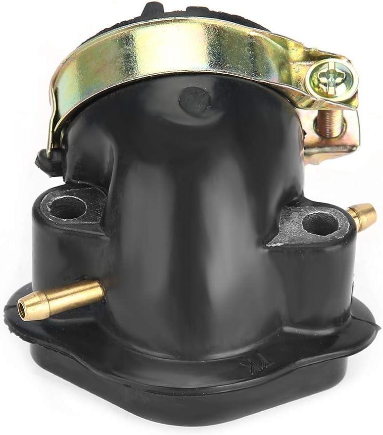 Vergaser-Schnittstelle Vergaser-Ansaugstutzen Vergaser-Ansaugstutzen-Adapter f/ür 125ccm 150ccm Motorroller ATV schwarz