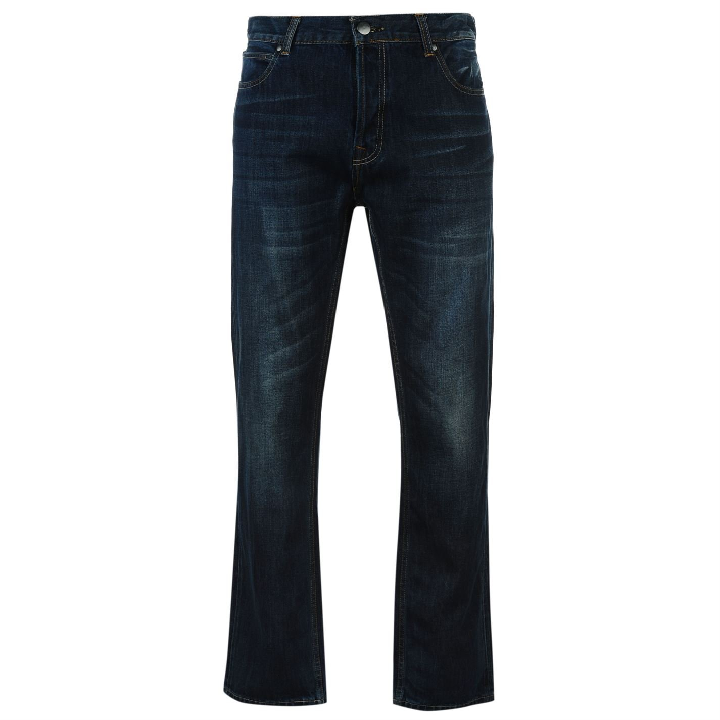 Firetrap Mens Rom Jeans Casual Cotton Trousers Pants Slightly Distressed Look
