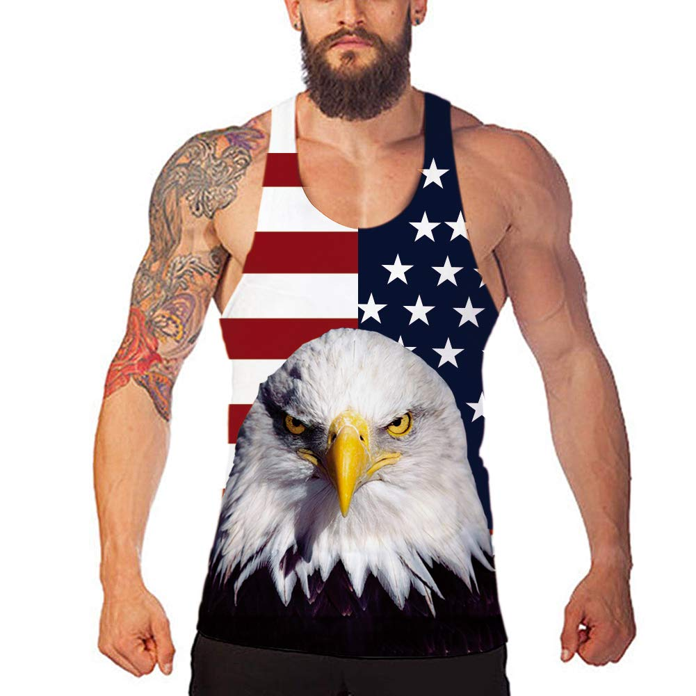 Goodstoworld Mens Y Back Muscle Tank Tops Workout Breathable Cool Graphics Bodybuilding Stringers Sleeveless Shirt