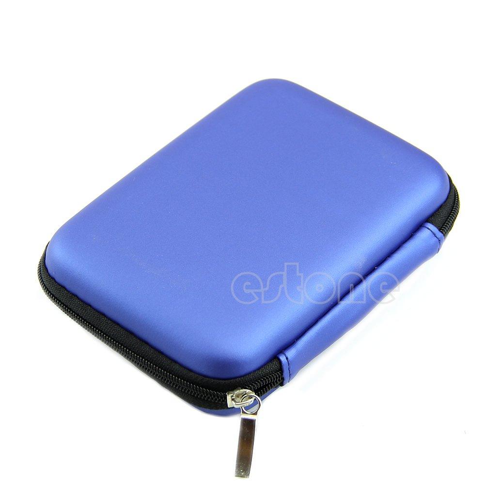 Azul-14x10x3.5cm//5.51x3.93x1.38-1 Pieza Haptian Para 2.5USB Externo WD HDD Unidad de Disco Duro Proteger la Bolsa de Mano Funda de Mano