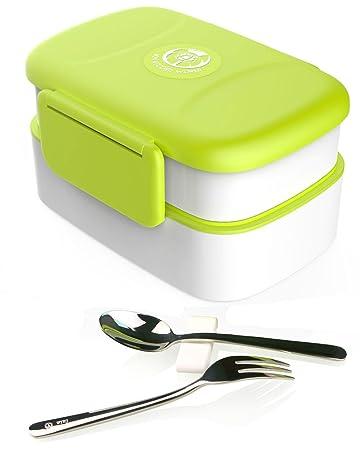 Lunchbox mit Löffel und Gabel Brotdose Neu..