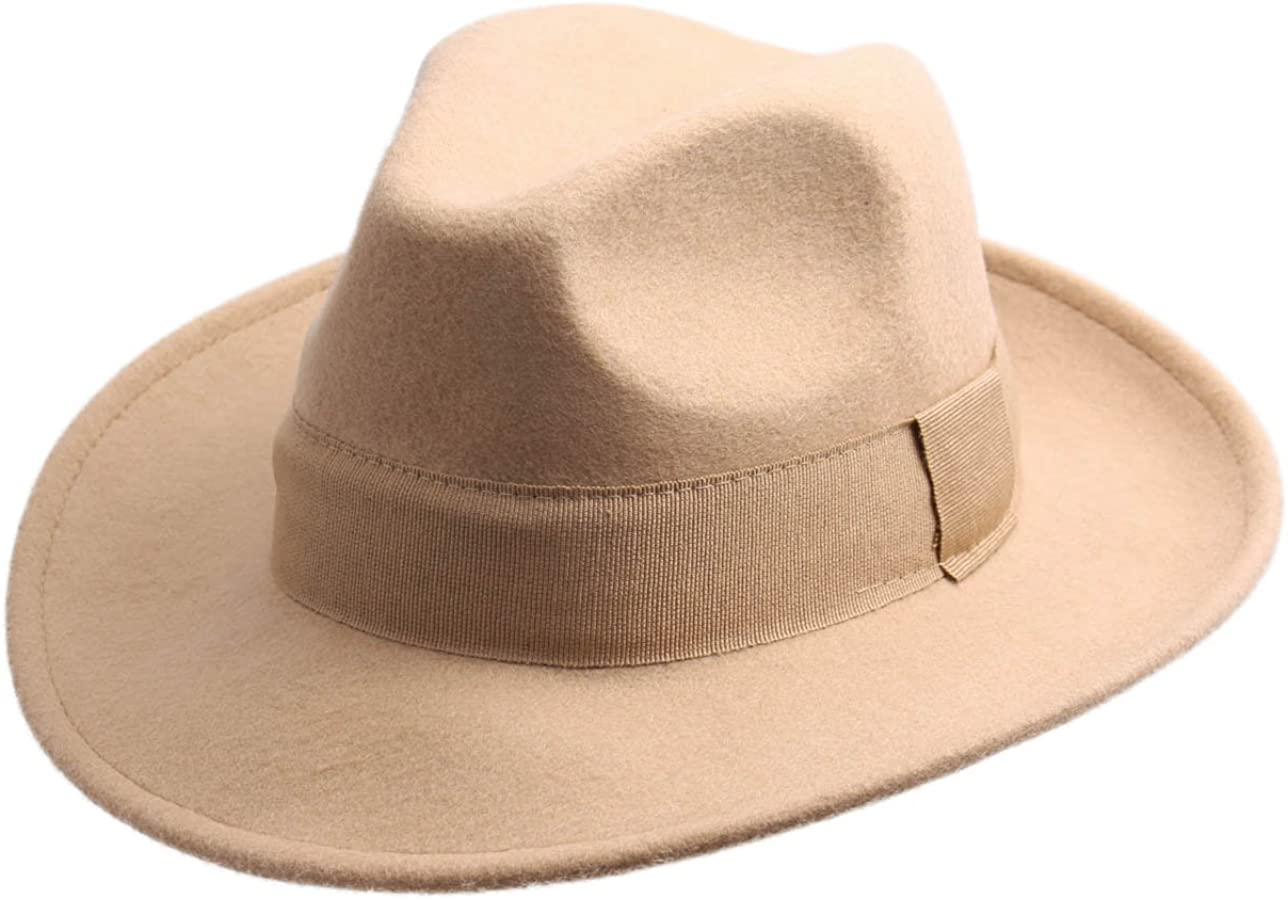 Classic Italy Fedora Hat Wool Felt Packable Water Repellent Men Fedora